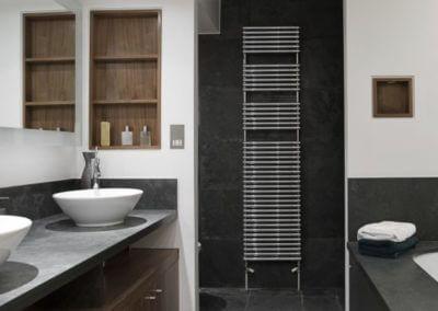 Bathroom Honed Black Stone