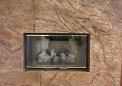 Fireplace Rainforest Brown Marble