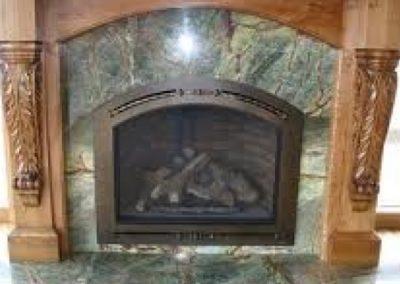 Fireplace Rainforest Green Marble